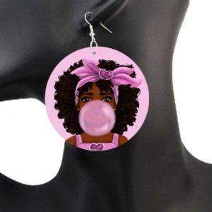 Bubble Gum Girl Earrings